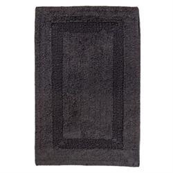 Βαμβακερό χαλάκι μπάνιου dark grey 45X65 cm