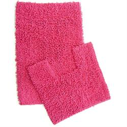 Set cotton bathmats 2pcs. Loop fuchsia 50X80 cm + 50X50 cm