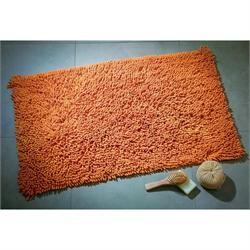 Cotton bathmats chenille orange 50X50 cm