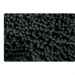 Βαμβακερό χαλάκι μπάνιου chenille black 50X50 cm