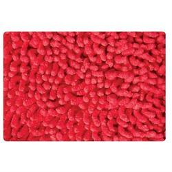 Cotton bathmats chenille red 50X50 cm