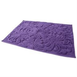 Βαμβακερό χαλάκι μπάνιου art purple 60X90 cm