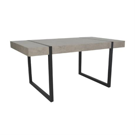 Table steel paint black -grey cement