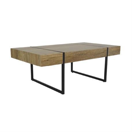 Coffee table steel black -walnut oak