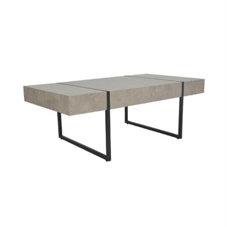 Coffee table steel black-grey cement