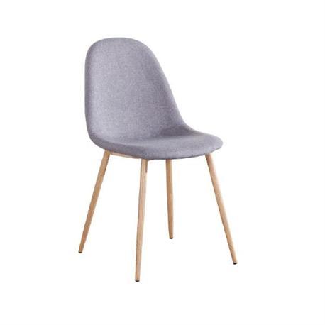 Καρέκλα steel βαφή φυσικό-ύφασμα γκρί