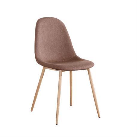 Καρέκλα steel βαφή φυσικό -ύφασμα καφέ