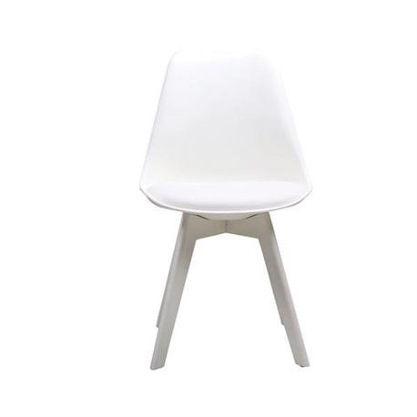 Καρέκλα λευκό pp(πλαστικό πόδι )κάθισμα pu