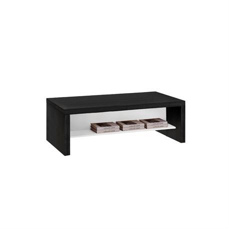Coffee table black oak-white