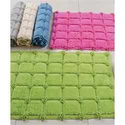 Cotton bathmats square blue 50Χ80 cm