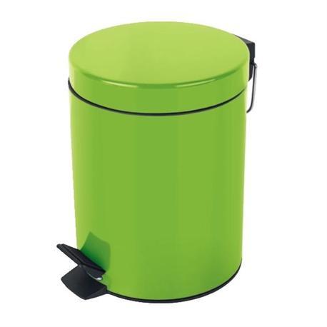 Metallic bin green 5lt for Green bathroom bin