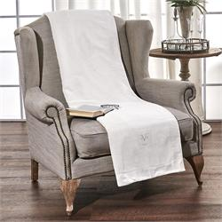 V19.69 Italia , Armchair Throw 180Χ160cm-VENICE VANIGLIA