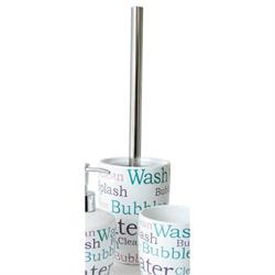 Ceramic toilet brush letters