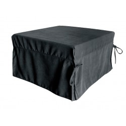 Stool -bed fabric black