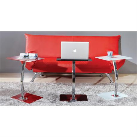 Lap Top table - white glass