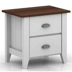 Bedside table white-walnut