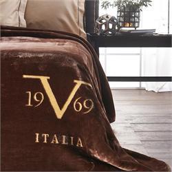 V19.69 Italia, ΚΟΥΒΕΡΤΑ VELOUR Υ/Π ΧΡΩΜΑ-VELLUTO Caffe