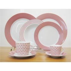 Dining set 20pcs. Matrix Red
