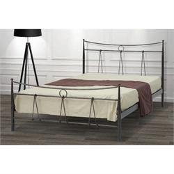 Iron Double bed SIKINOS 160X200 cm