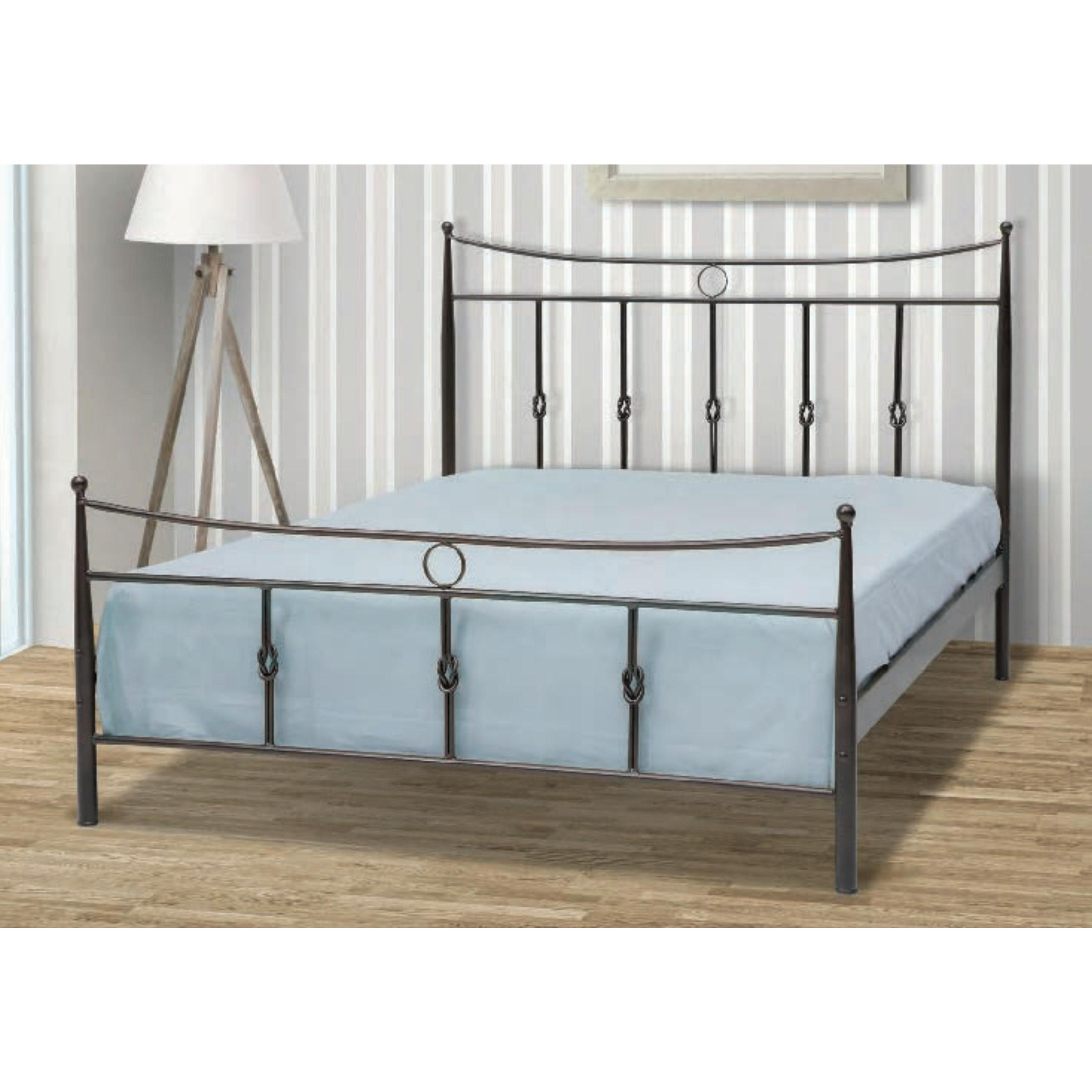 Iron single bed kithira 90x200 cm for Couch 90x200