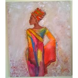 African Girl - Original painting