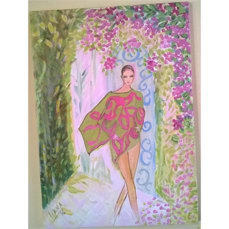 Girl in Mykonos - Original painting
