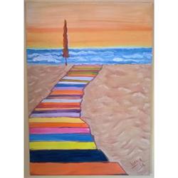 Παραλία - Αυθεντικός πίνακας ζωγραφικής