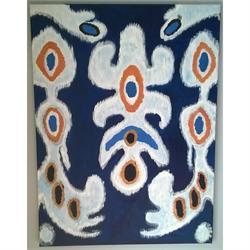 Ikat Indigo - Original painting
