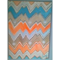 Summer Ikat - Original painting