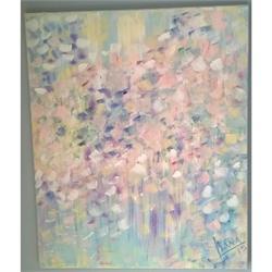 Λουλούδια αφηρημένα - Αυθεντικός πίνακας ζωγραφικής