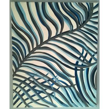 Φοινικόφυλλα - Αυθεντικός πίνακας ζωγραφικής