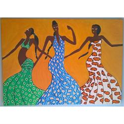 African Dancers - Original painting