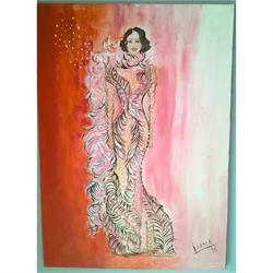 Λαίδη Γκάγκα - Αυθεντικός πίνακας ζωγραφικής
