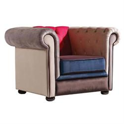 ARMCHAIR FABRIC PATCHWORK Velure