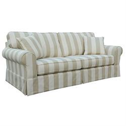 Καναπές 3θέσιος Μπεζ Ριγέ