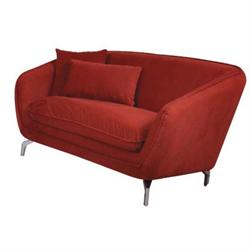 SOFA 2-S FABRIC DARK RED