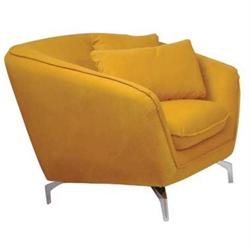 ARMCHAIR FABRIC YELLOW