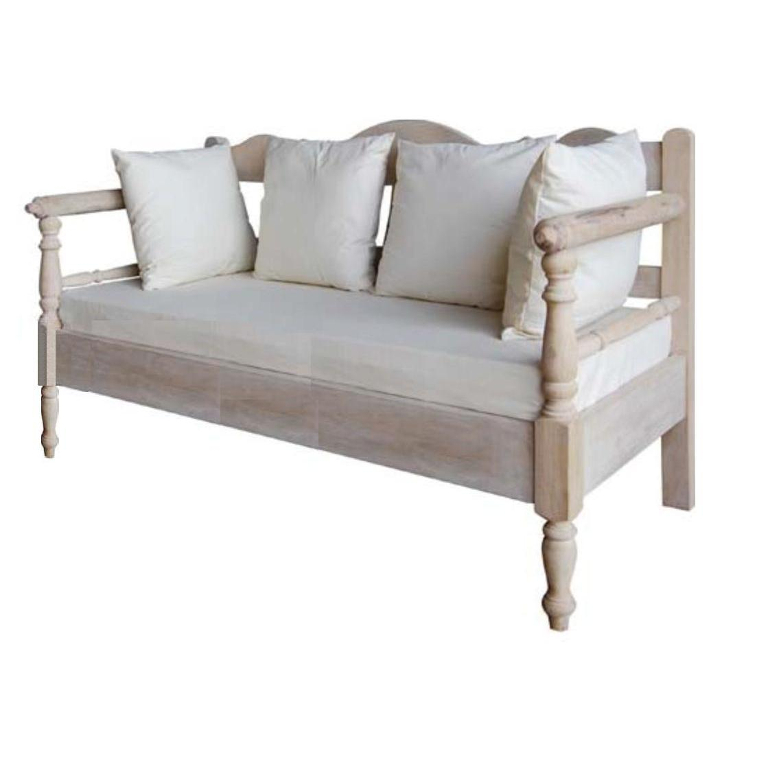 2 Seater Sofa Antique White