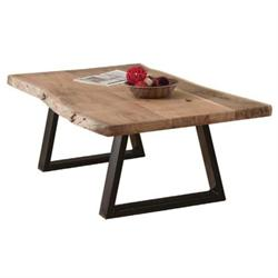 Coffee Table Acacia Natural Finish (Black Paint)