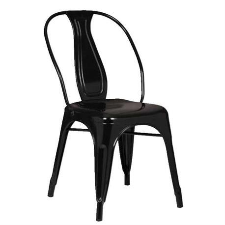 Καρέκλα Μεταλλική Μαύρη High