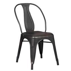 Καρέκλα Μεταλλική Antique Black High