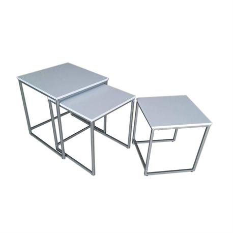 Set 3 tables grey-white