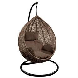 Hanging Lounge Steel brown