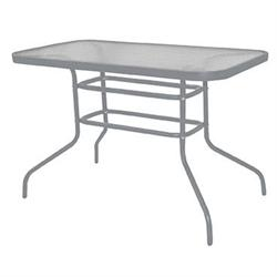 Rectangular table 120X70 steel grey