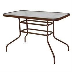 Rectangular table 120X70 steel brown