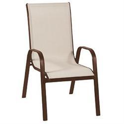 Armchair brown / beige textil.