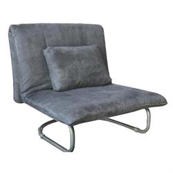 Armchair-bed fabric grey