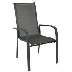 Armchair Steel Dark Grey / Textilene Grey