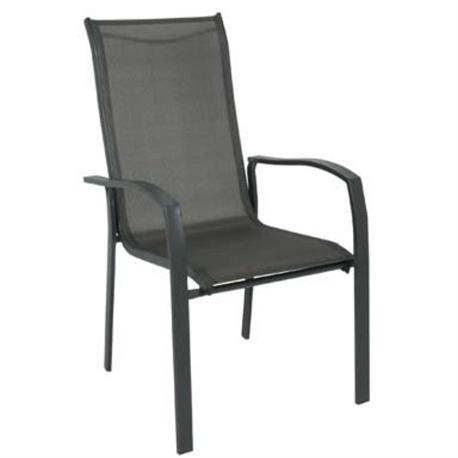 Armchair Steel Dark Grey / Textilene Grey