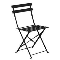 Καρέκλα Πτυσσόμενη Μεταλλική Μαύρη